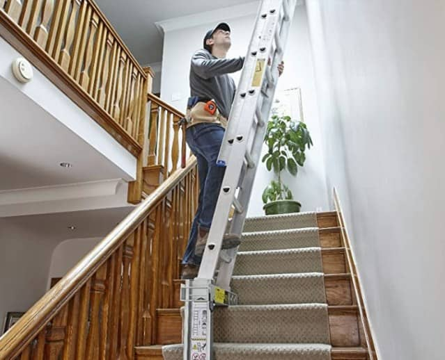 Use a Ladder on Stairs
